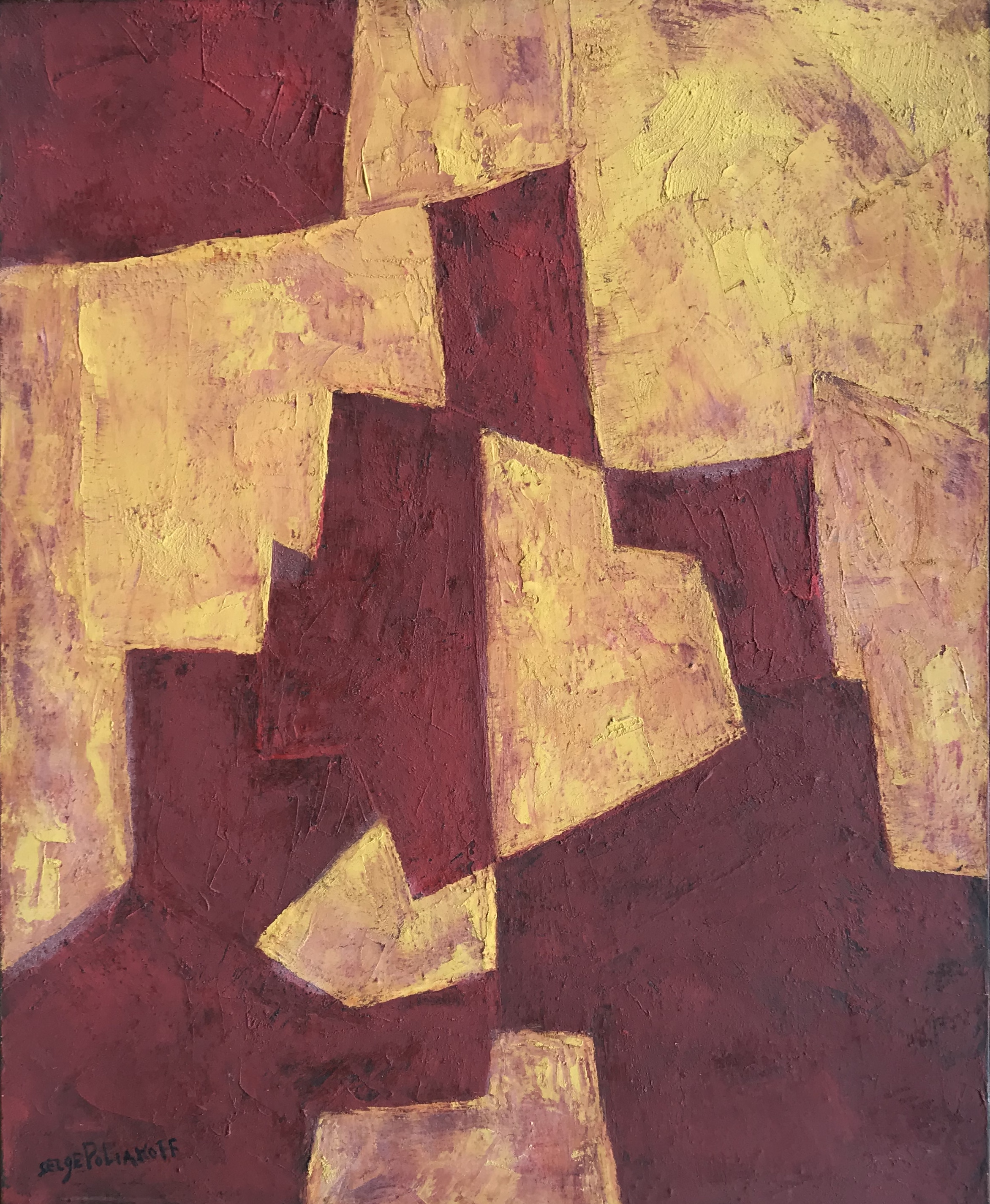 Serge Poliakoff - Composition abstraite, 1958